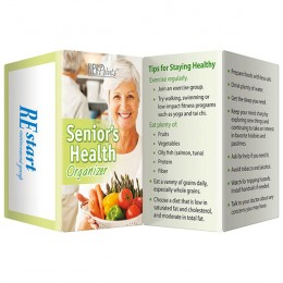Seniors Health Organizer Promotional Custom Imprinted With Logo