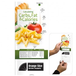 Pocket Slider Calculating Carbs, Fats & Calories Custom Imprinted With Logo