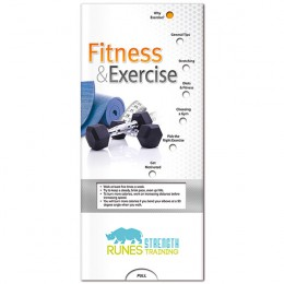 Pocket Slider: Fitness & Exercise Promotional Custom Imprinted With Logo