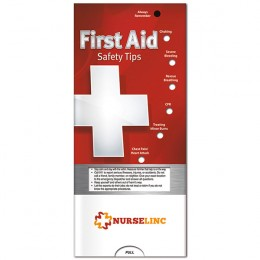 Pocket Slider: First Aid Promotional Custom Imprinted With Logo