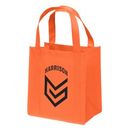 Promotional Recycled Tote Bag - Little Thunder Heavy Duty Reusable Tote - Orange