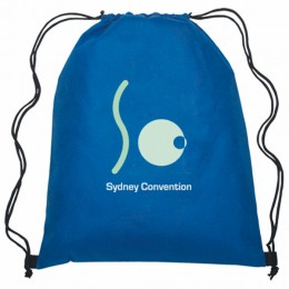 Waterproof Non-Woven Polypropylene Backpacks Printed with Your Company Logo - Royal Blue