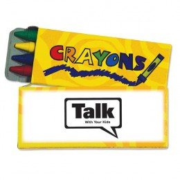 4 Pack Standard Crayons - Yellow