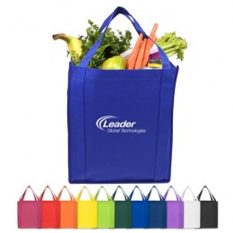 Saturn Jumbo Nonwoven Grocery Tote Promotional Custom Imprinted With Logo