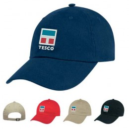 Natural Brushed Twill Cap - Heat Transfer Imprint