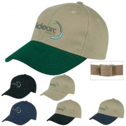 6-Panel Brushed Twill Cap - Heat Transfer Imprint