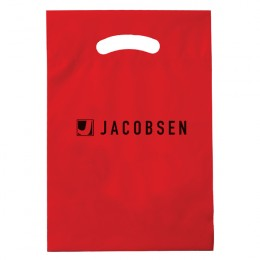 "9"" x 13"" Die Cut Bag - Red"