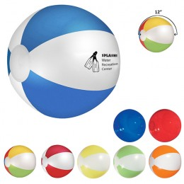 "Best Promotional 12"" Beach Balls Imprinted with Your Business Logo"