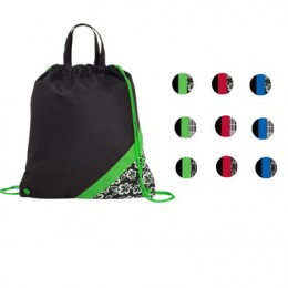 Poly Pro Accent Drawcord Bag- Print Accents