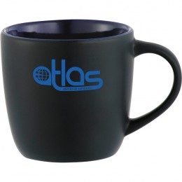 Blue Color Accent Electric Mug Custom Logo