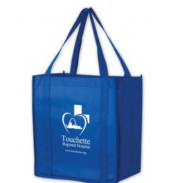 Small Custom Grocery Tote Bag - Royal Blue