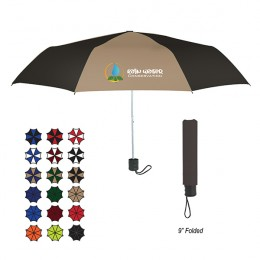 Telescopic Budget Custom Promotional Umbrella-42 Inch