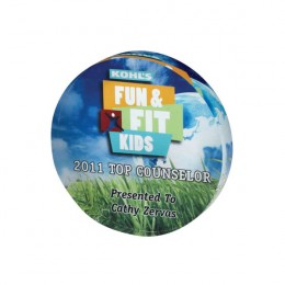 Photo Image Acrylic Round Paperweight - Full Color - 4 Inch