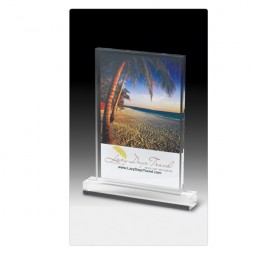Elegant Rectangle Acrylic Award with Base -Full Color - 6 Inch