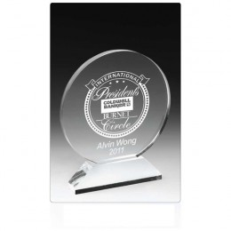 Round Acrylic Award on Elevated Base - 7 Inch