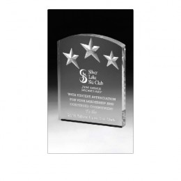 Arched Deep Etch Award - 6 Inch