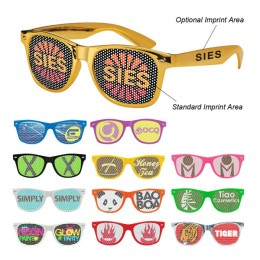 Retro Custom Promotional Sunglasses with Logo Lenses-Branded Giveaways