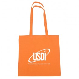 Natural Cotton Tote Bag - Orange