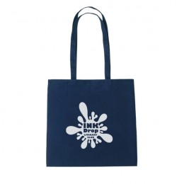 Natural Cotton Tote Bag - Navy