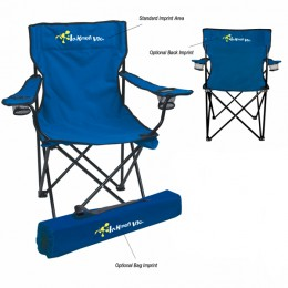 Folding Chair with Carrying Bag - Royal Blue