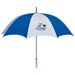 "60"" Arc Golf Umbrella - White/blue"