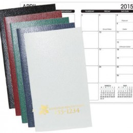 Leatherette Monthly Planner
