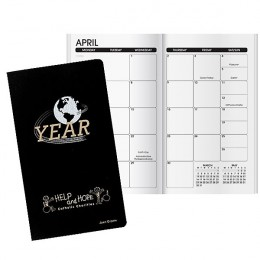 Imprinted Monthly View Globe Planner