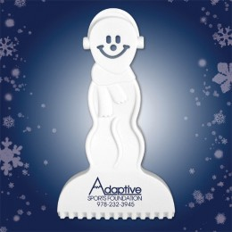 Custom snowman novelty styrene ice scrapers - Most durable ice scrapers