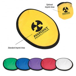 Custom Foldable Flying Disc and Pouch Promotional Giveaway