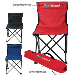 Business Promotional Folding Camping Chairs with Front Custom Logo Imprint