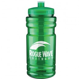 Custom Label Cheap Sports Bottles - Great Trade Show Promotional Giveaway Items - Translucent Green
