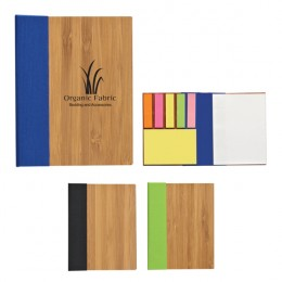 Bamboo Sticky Note Set Custom Imprinted