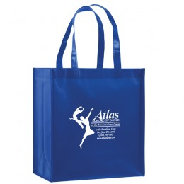 Best Promotional Laminated Tote Bags Imprinted with Your Business Logo - Royal Blue