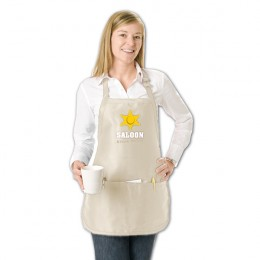Medium Length Cotton Apron Custom Logo