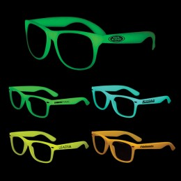 Glow in the Dark Custom Design Sunglasses For Advertising