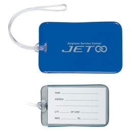 Promotional Luggage Identifiers with Full Color Imprint for your Business - Blue
