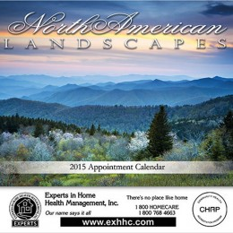 Landscapes of North America Stapled Wall Calendar