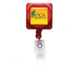 Square Full Color Badge Holder with Alligator Clip