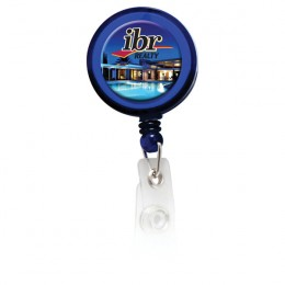 Round Full Color Badge Holder with Alligator Clip