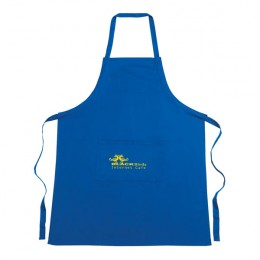 Custom Cotton Apron with Logo - Blue