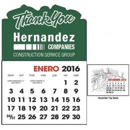 Spanish Two Color Stick Up Grid 13 Month Calendar