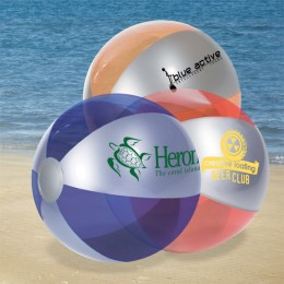 Two-Tone Custom Translucent Beach Balls - Frosted Luster Tone