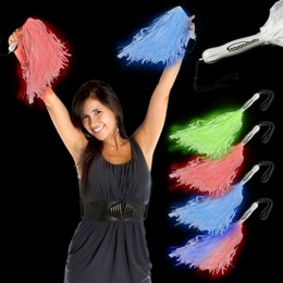 "Deluxe 16"" Light-Up Pom Poms"