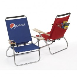 Bahama Beach Chair - royal blue and red