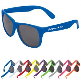 Solid Sunglasses with Logo and Matte Finish