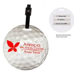 Golf Ball Luggage Tag-Full Color