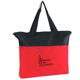 Non-Woven Zippered Tote In Vibrant Colors - Red