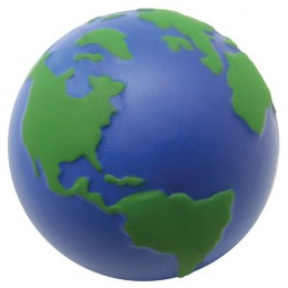 Earth Globe Stress Relief Squeezie Ball