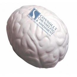 Squeezies Promotional Shaped Stress Reliever Brains - Gray