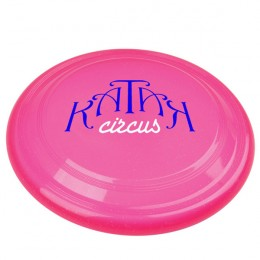 Sparkle Flying Disc with Custom Business Logo - Transparent Pink